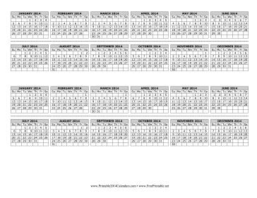 2014 Computer Monitor Calendar Calendar