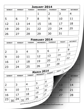 Month Per Page Printable | Calendar Template 2016