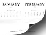 2014 CD Case Calendar calendar