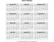 2014 Calendar on one page (vertical, week starts on Monday) calendar