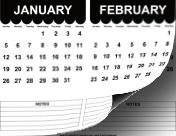 2014 Cute Scallop Calendar calendar