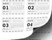 2014 Horizontal Scrapbook Calendar Cards calendar