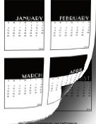 2014 Vertical Scrapbook Calendar Cards calendar