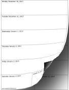 2014 Weekly Calendar (vertical) calendar